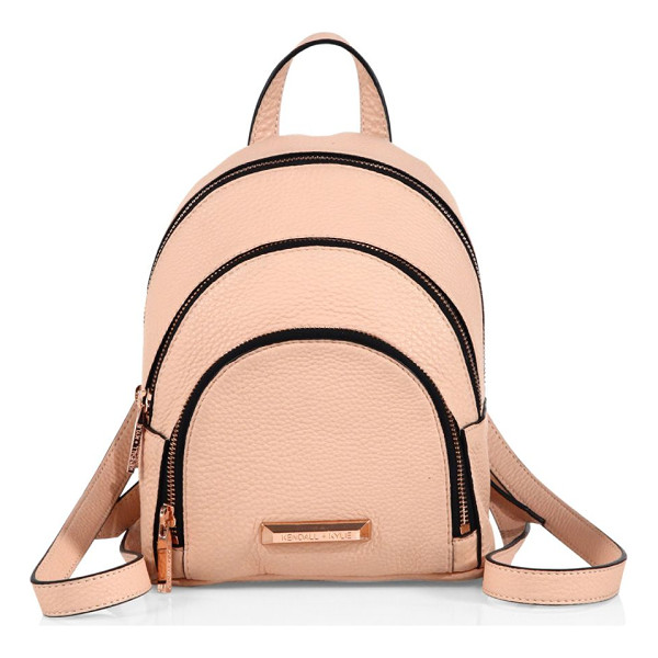 KENDALL + KYLIE sloane mini leather backpack - Dual-zip pebbled leather backpack in mini version. Top