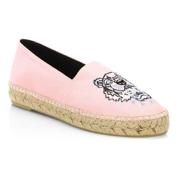KENZO classic faded espadrilles - Cotton-blend espadrilles featuring a front graphic....
