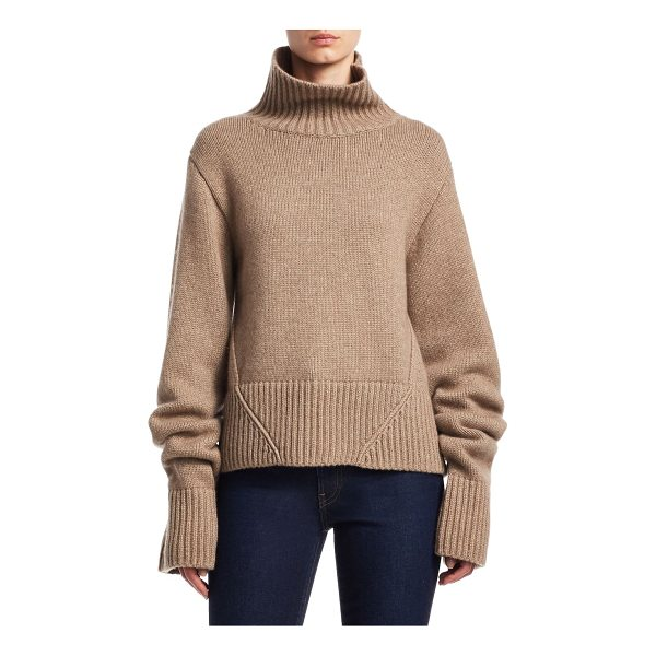KHAITE wallis cashmere turtleneck sweater - Cashmere sweater with rib-knit detail at neck. Turtleneck....