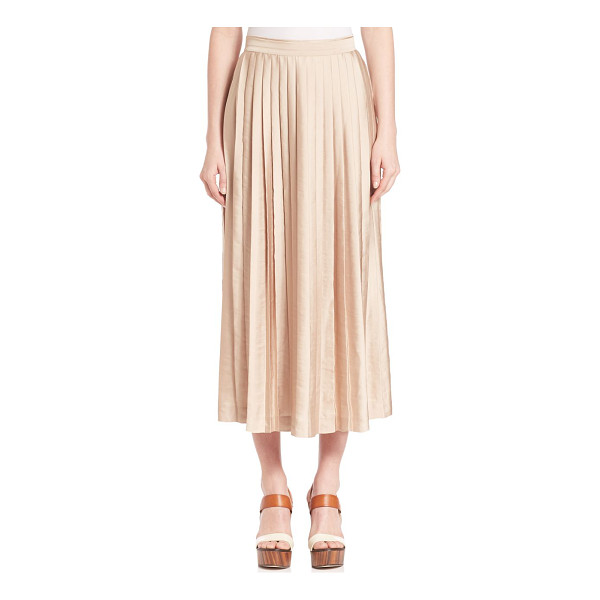 KOBI HALPERIN Peyton pleated skirt - Flouncy pleats update midi skirtBanded waistConcealed back...
