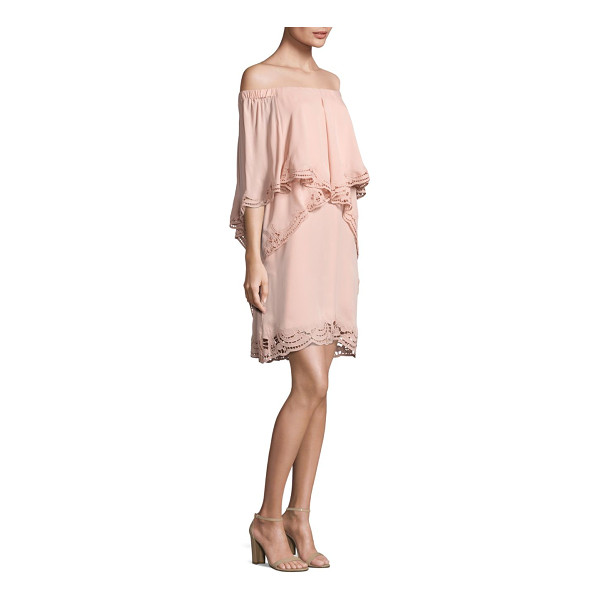 KOBI HALPERIN veronica ruffled off-the-shoulder dress - Silk dress exudes traditional appeal updated with a trendy...