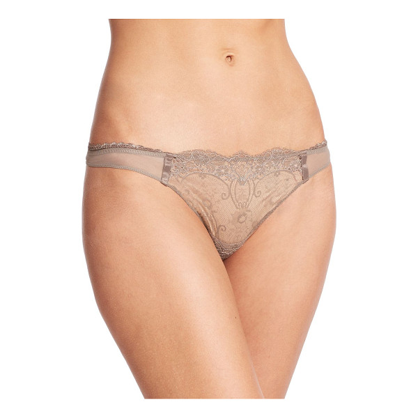 LA PERLA Magnolia thong - Ethereal Leavers lace adds romantic allure to this stretch...