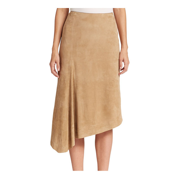 LAFAYETTE 148 NEW YORK Chantee asymmetrical suede skirt - Crafted from ultra-smooth lamb suede, this asymmetrical...