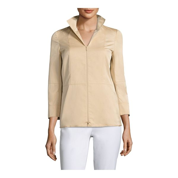 LAFAYETTE 148 NEW YORK cicely jacket - Seamed jacket framed by three-quarter sleeves. Spread...