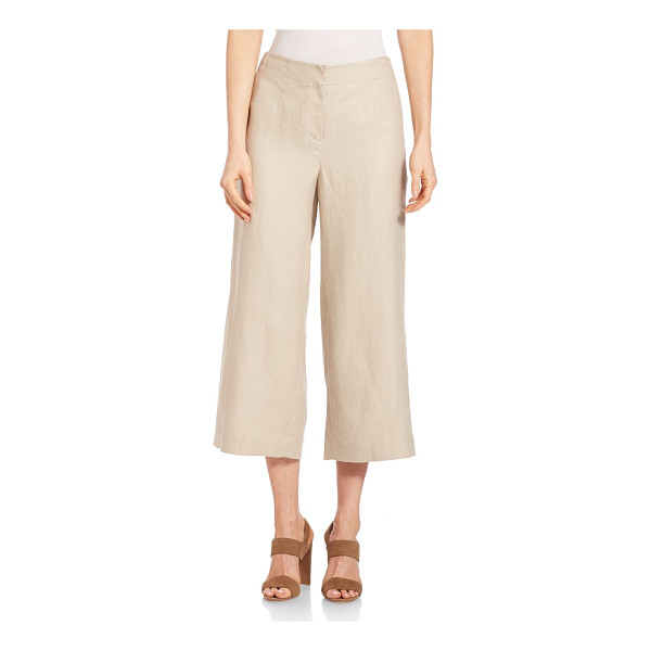 LAFAYETTE 148 NEW YORK linen charlton pants - Stylish linen pants with a cropped, wide leg. Zip fly with...