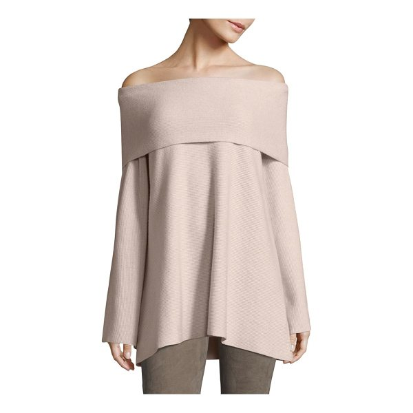LAFAYETTE 148 NEW YORK off-the-shoulder cashmere sweater - Cashmere sweater in rib-knit design allover....