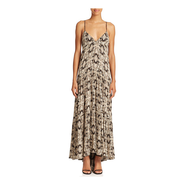 L'AGENCE Grace butterfly-print silk maxi dress - Crafted of soft silk Georgette and patterned with an...