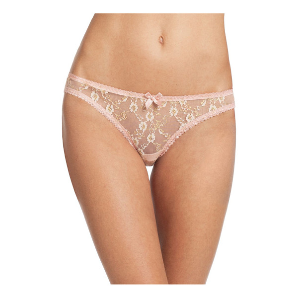 L'AGENT BY AGENT PROVOCATEUR monica mini brief - Enriched with beautiful floral detailing, these mesh briefs...