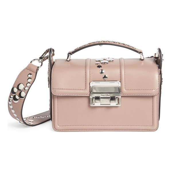 LANVIN jiji small studded leather shoulder bag - Three-compartment design updated with polishedstuds. Top...