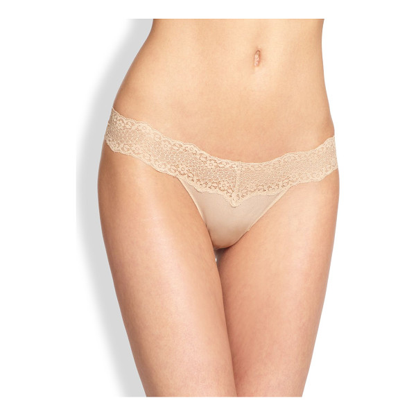 LE MYSTERE perfect pair lace bikini briefs - Silky lightweight microfiber and feminine stretch lace trim...