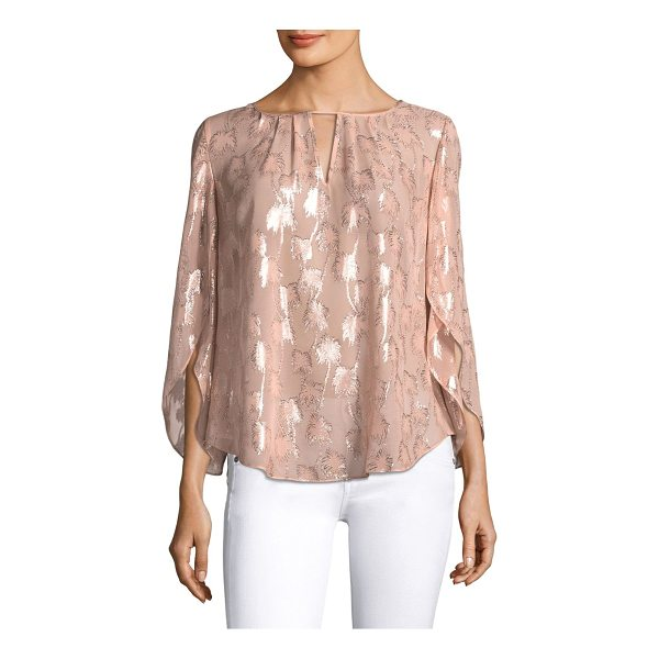 LILLY PULITZER beccer clip blouse - Petal sleeve silk blouse with cutout detail at front....
