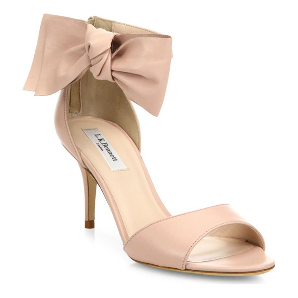 L.K. BENNETT agata leather bow sandals - Feminine leather sandal with asymmetric bow detail....