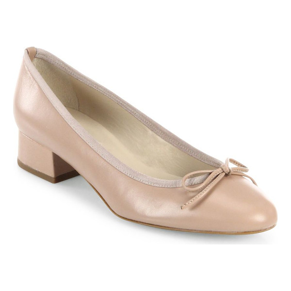 L.K. BENNETT danielle leather ballet pumps - Ladylike ballet-inspired pump in soft shiny leather....