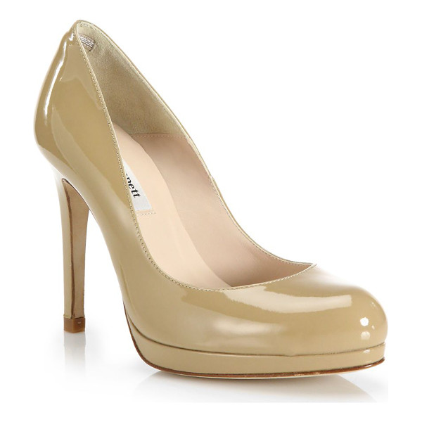 L.K. BENNETT sledge patent leather pumps - Glossy patent leather pump shaped with round toe.