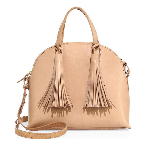 LOEFFLER RANDALL dome leather satchel - Dome-shaped leather satchel with bold fringe tassels.