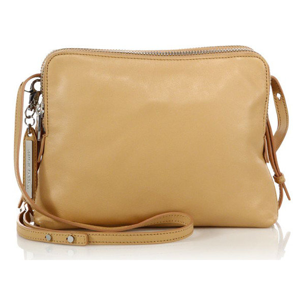 LOEFFLER RANDALL Medium double-zip leather crossbody bag - Expertly organized design of rich leatherAdjustable...