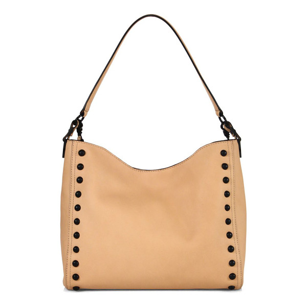 LOEFFLER RANDALL mini studded leather hobo bag - Slouchy leather hobo bag framed with contrast studs. Top...