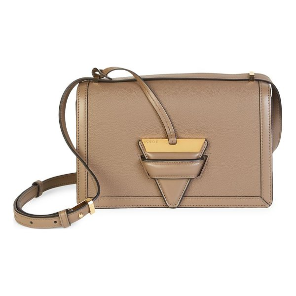 LOEWE barcelona leather shoulder bag - Smooth leather silhouette features metallic triangular...