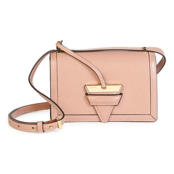 LOEWE barcelona small leather shoulder bag - Shiny goldtone hardware accents sleek leather bag. Shoulder...
