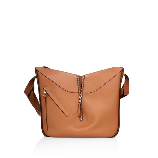 LOEWE medium hammock leather hobo bag - Convertible, architectural style in smooth leather. Top...