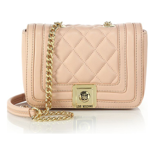 LOVE MOSCHINO Mini quilted faux leather crossbody bag - Quilted faux leather lends elegant texture to this petite...