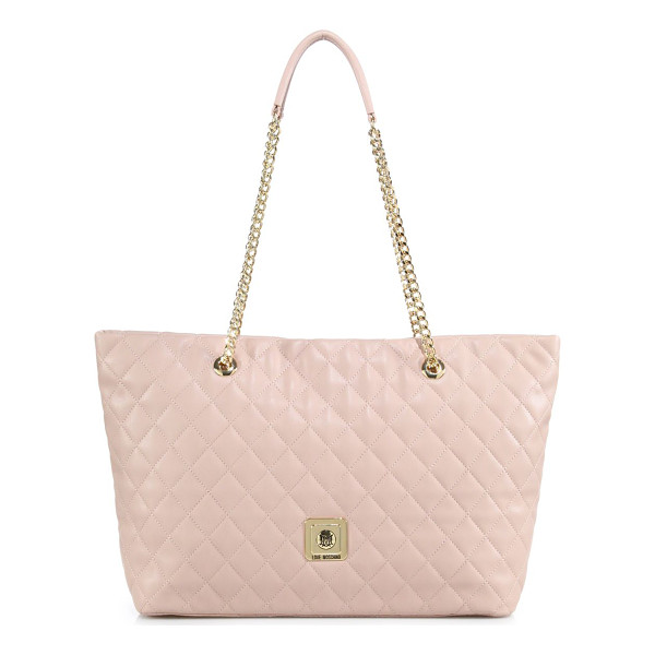 LOVE MOSCHINO Quilted faux leather tote - A luxe quilted texture elevates the look of this spacious...