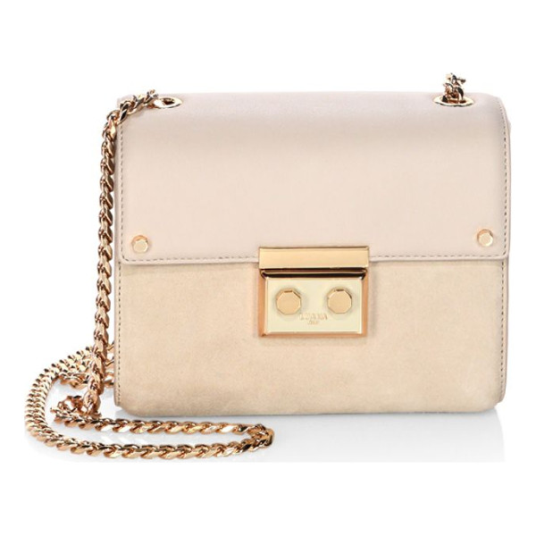 LUANA ITALY marella mini leather & suede chain shoulder bag - Compact leather-suede design with blushing hardware....