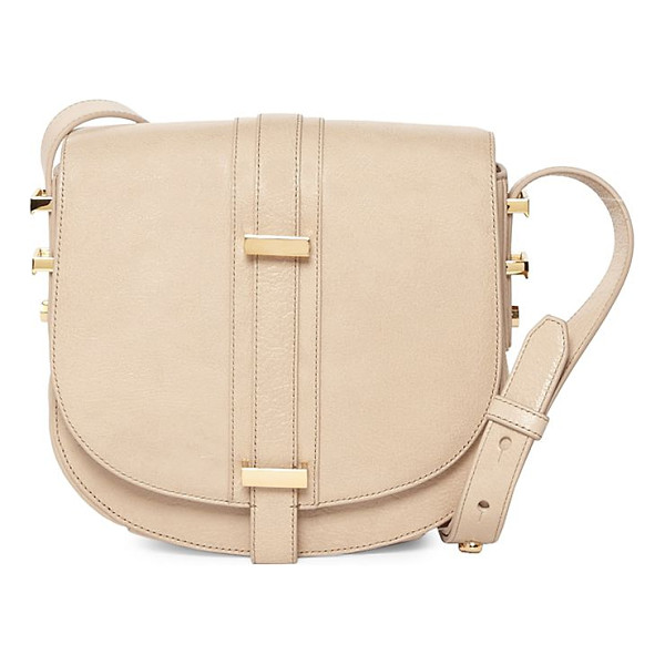 LUANA ITALY mariane crossbody leather saddle - A crossbody saddle crafted from plush leather. Removable,