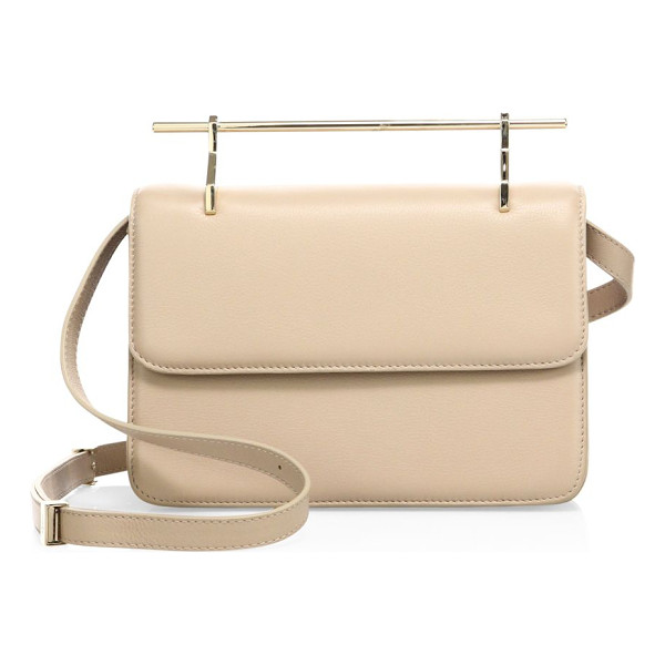 M2MALLETIER la fleur du mal leather crossbody bag - Minimalist leather handbag updated with sleek handle....