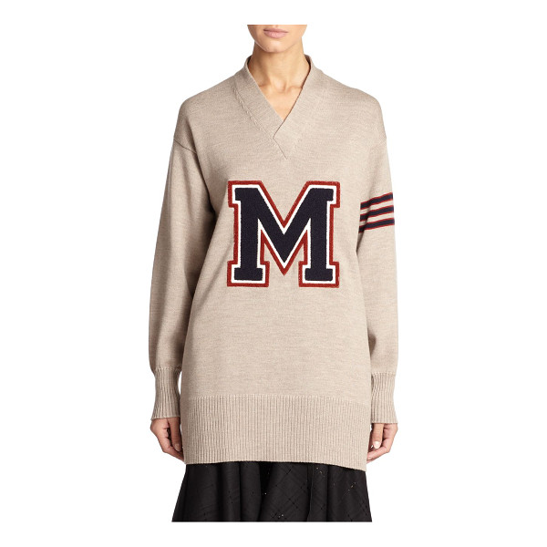 MAISON MARGIELA Wool varsity sweater - This avant-garde take on the classic varsity sweater is...