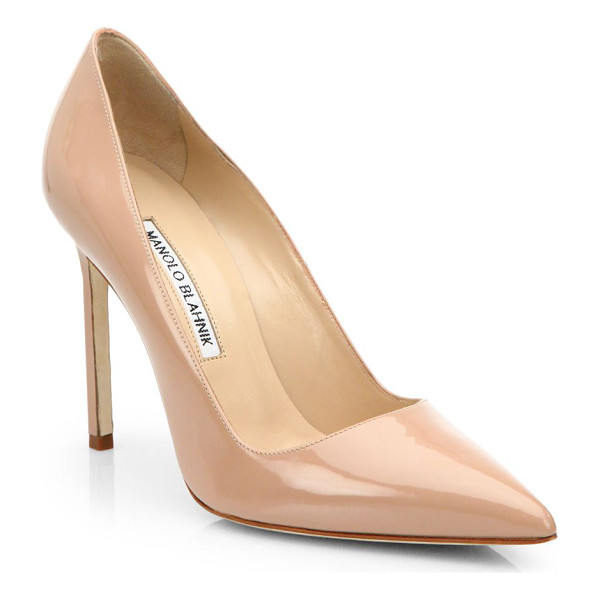 MANOLO BLAHNIK bb 105 patent leather point toe pumps - Shiny patent leather in a versatile point toe silhouette....