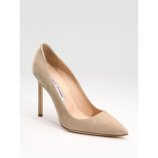 MANOLO BLAHNIK bb 105 suede point toe pumps - These sophisticated pumps of rich suede with a