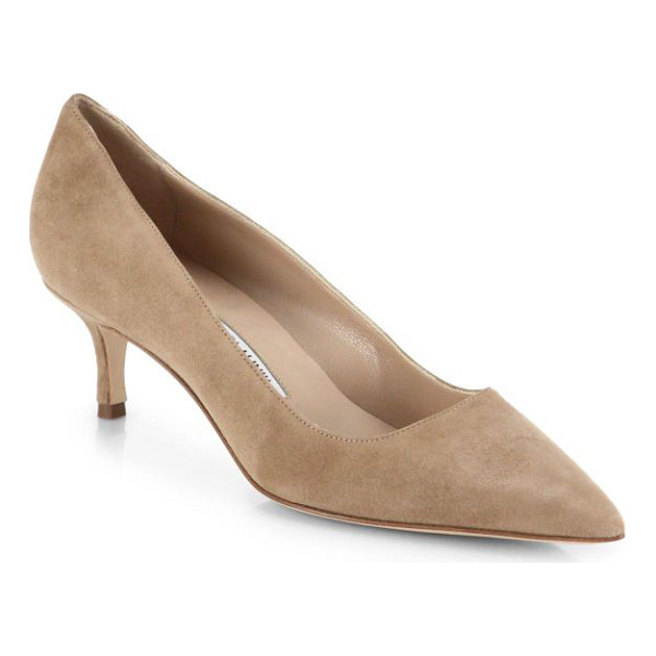 MANOLO BLAHNIK bb 50 suede pumps - Manolo Blahnik's signature BB pump, artfully crafted in...