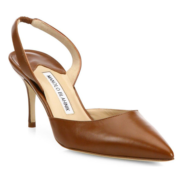 MANOLO BLAHNIK carolyne leather slingbacks - A timeless silhouette crafted from supple Italian leather...