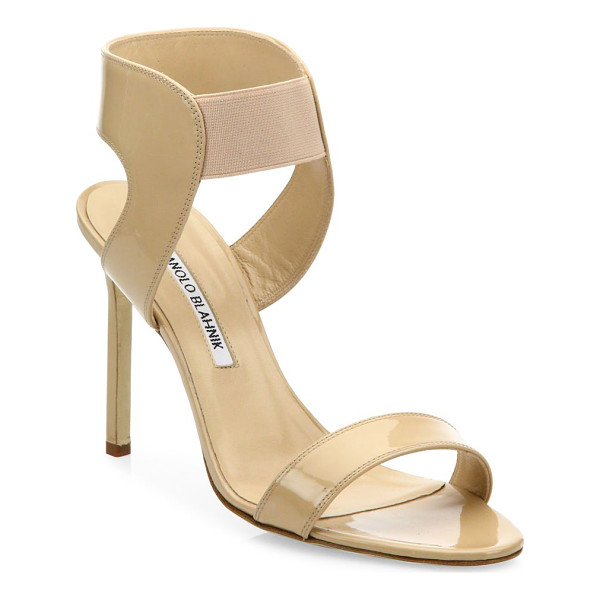 MANOLO BLAHNIK pepe patent leather sandals - EXCLUSIVELY AT SAKS FIFTH AVENUE. Versatile patent sandal
