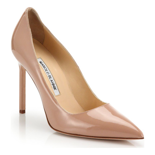 MANOLO BLAHNIK Bb point-toe patent leather pumps - No shoes are more classic or essential than these...