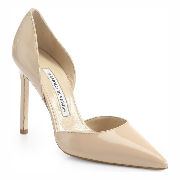 MANOLO BLAHNIK tayler patent leather d'orsay pumps - Sophisticated point-toe silhouette crafted in Italy of