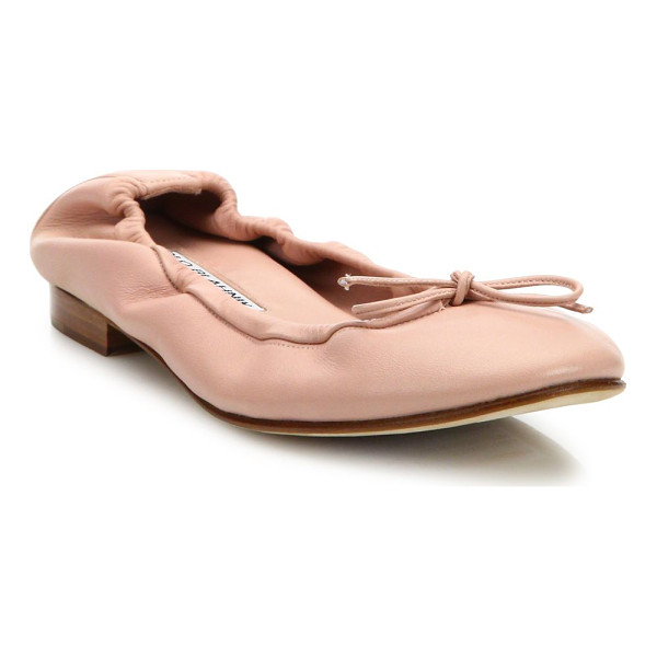 MANOLO BLAHNIK tobaly leather ballet flats - EXCLUSIVELY AT SAKS FIFTH AVENUE. Classic leather ballet