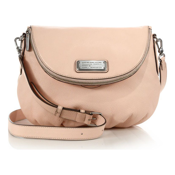 MARC BY MARC JACOBS Classic q natasha two-tone leather crossbody bag - A timeless brand classic in pebbled leather, this crossbody...
