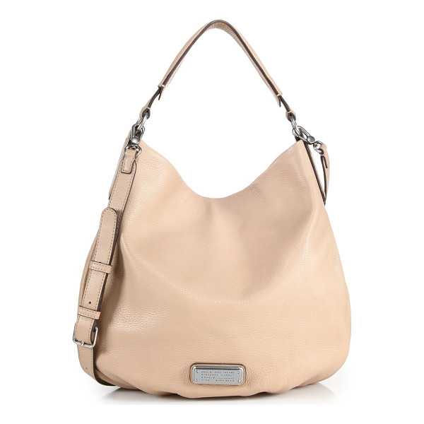 MARC BY MARC JACOBS Hillier two-tone hobo bag - Crafted from rich pebbled leather in a slouchy silhouette,...
