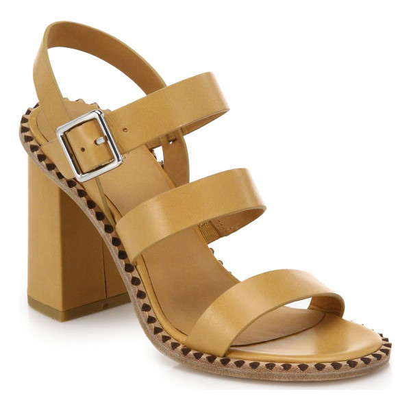 MARC BY MARC JACOBS Triple-strap leather sandals - These triple-strap, block-heeled leather sandals boast a...