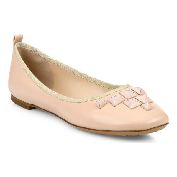 MARC JACOBS cleo studded leather ballet flats - Studded accents elevate these leather ballerinas. Lamb...
