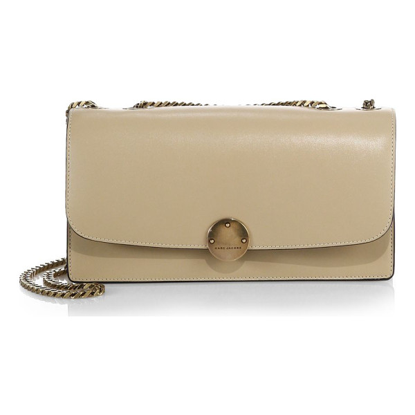 MARC JACOBS Double trouble shoulder bag - This smooth leather shoulder bag is designed with elegant...