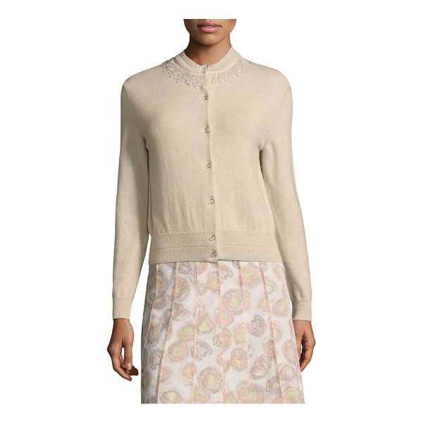 MARC JACOBS embellished wool & cashmere cardigan - Chic wool-blend cardigan featuring embellished collar....