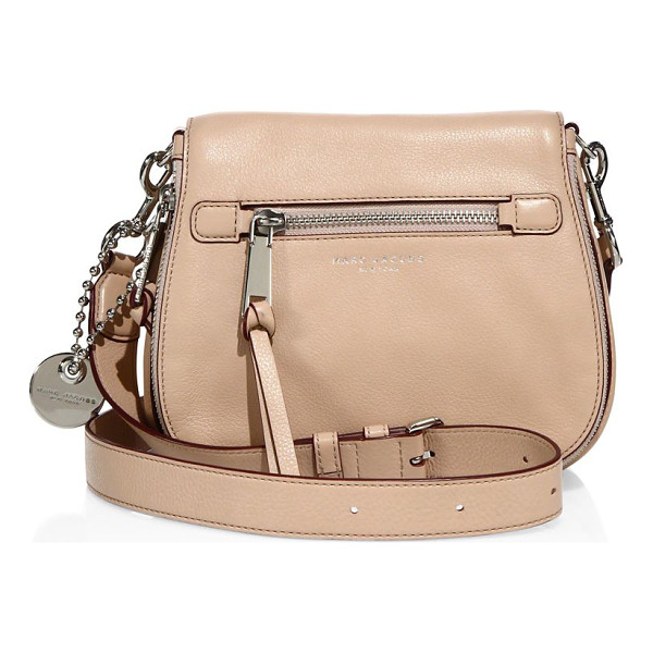 MARC JACOBS recruit small leather saddle crossbody bag - Polished leather saddle bag with rich hardware accents....
