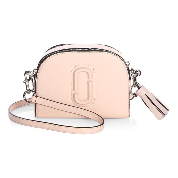 MARC JACOBS shutter leather crossbody bag - Dual-zip leather crossbody with tonal paperclip detail....