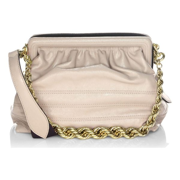 MARC JACOBS swinger leather shoulder bag - Features gathered details at front and back. Removable...