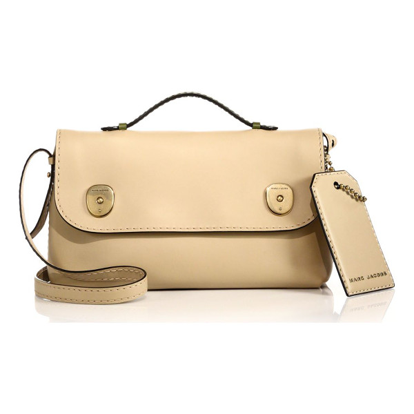 MARC JACOBS Topstitched top-handle satchel - Crafted from smooth, buttery leather, this sleek satchel...