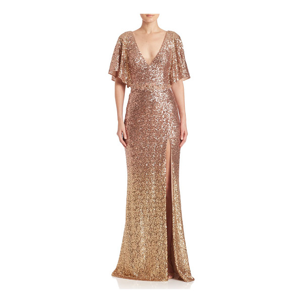 NOTTE BY MARCHESA sequin embellished gown - Allover sequins lend a polished finish to this gown....