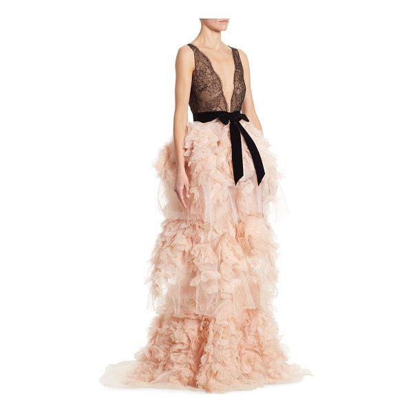 Marchesa Silk Tulle Dress